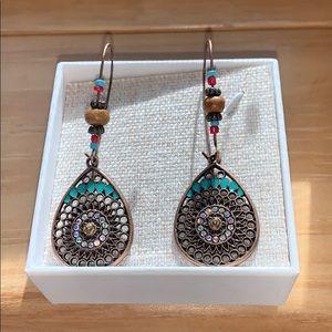 Beaded boho earrings- brand new!